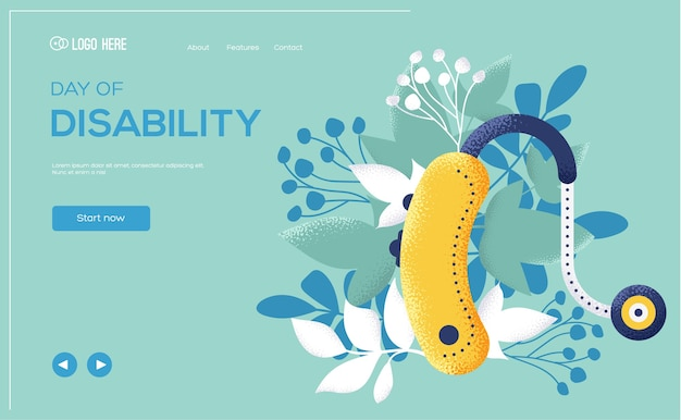 Day of disability landing page