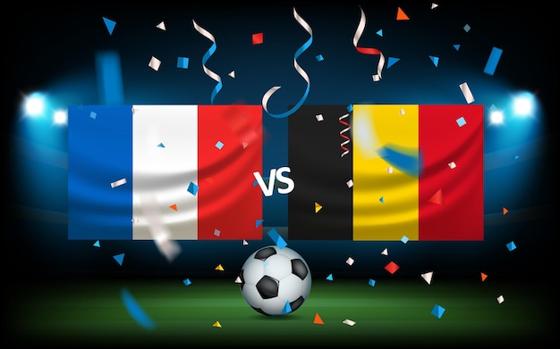 Day of the match. france versus belgium