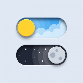 Day and night switch buttons