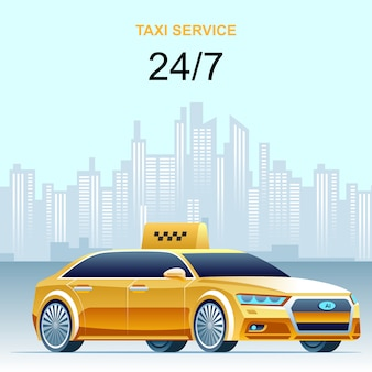 Day and night taxi service