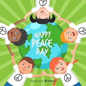 フラットな子供たちと平和の構成の日
