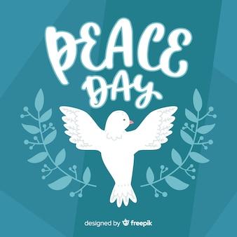 День мира композиция с рисованной белый голубь
