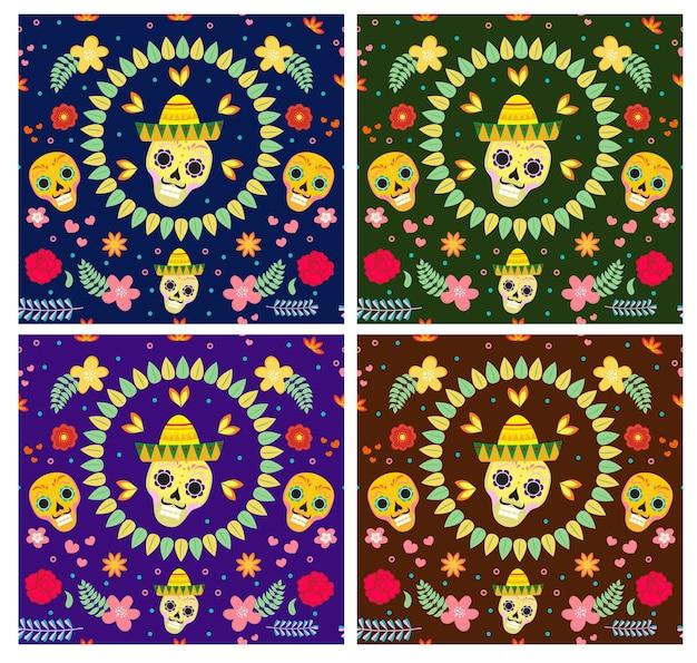 死者の日メキシコ人。死者の日