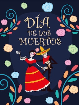 День мертвых, традиционный праздник украшения скелета катрины цветами