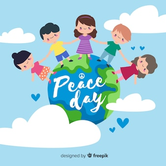 Day of peace and children from all around the world