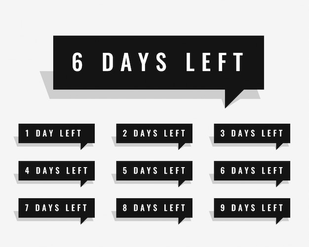 Days left countdown banner for sale and promotion