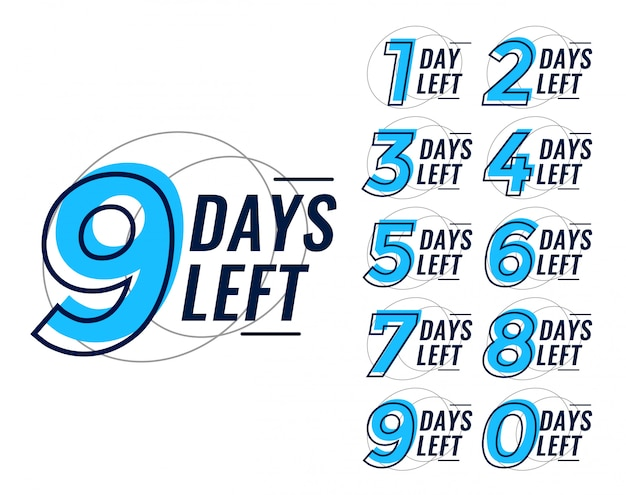 Days left countdown banner set