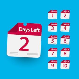テンプレートの残り日数。タマンプロモーション、バナーまたは印刷のデザイン。