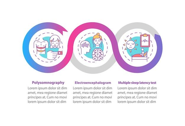 Инфографический шаблон исследования дневного сна