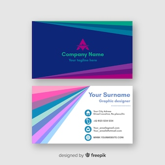 Dazzling colorful template for business card
