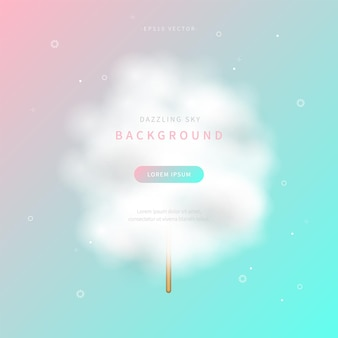 Dazzling sky background of soft gradient color