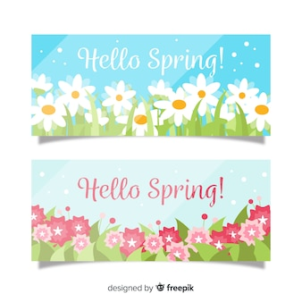 Dazzling spring banner template