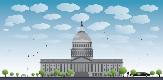 ワシントンdcの国会議事堂の風景、アメリカ