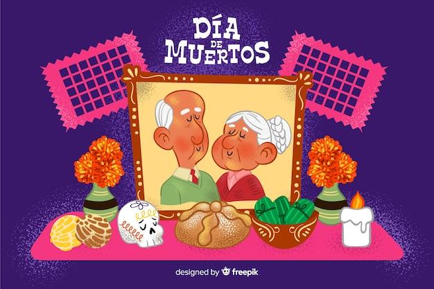 Потерянные бабушки и дедушки рисованной фон de muertos