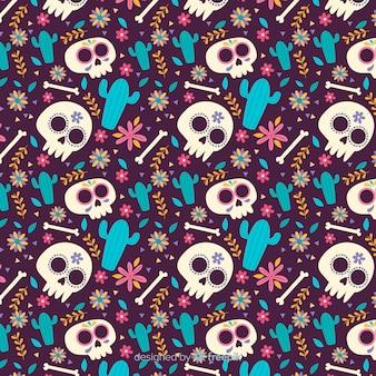 Плоский дизайн шаблона de muertos