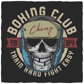 Dead boxer illustration