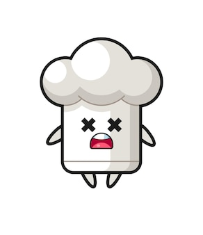 The dead chef hat mascot character , cute style design for t shirt, sticker, logo element