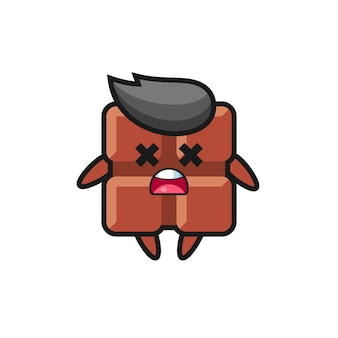 The dead chocolate bar mascot character , cute style design for t shirt, sticker, logo element