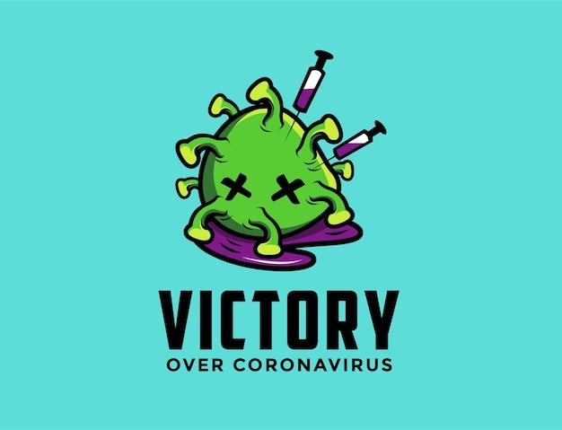 死んだコロナウイルスのロゴの漫画