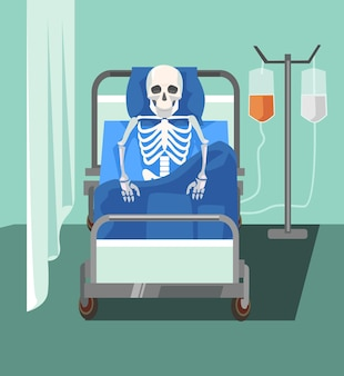 Dead patient. too slowly medicine help. health care problems.