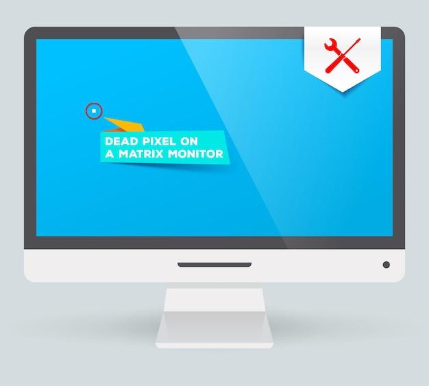Битый пиксель на матричном мониторе. сервисное обслуживание. ремонт. замена дефектных деталей.