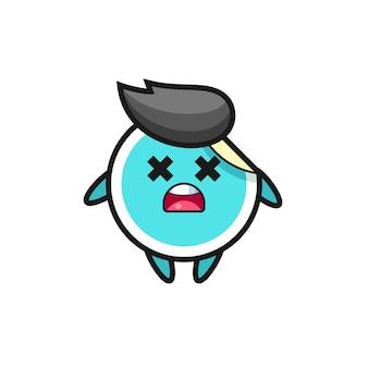 The dead sticker mascot character , cute style design for t shirt, sticker, logo element