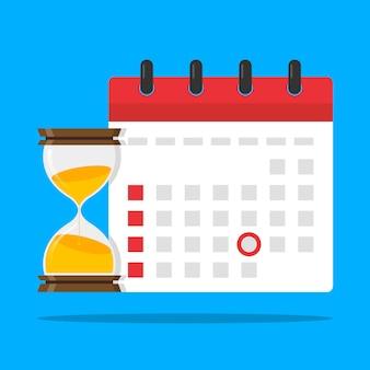 Deadline date calendar event reminder illustration vector icon