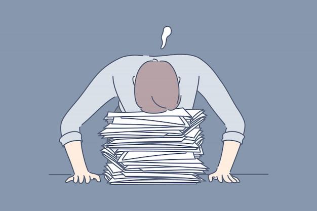締め切り、過労、睡眠、ストレス、過負荷、ビジネス、コンセプト