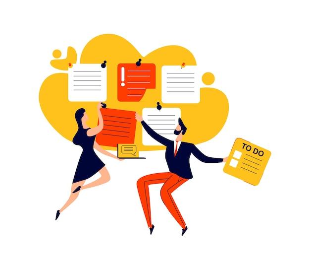 마감일, 시간 관리 및 팀워크 비즈니스 개념