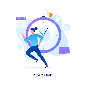Deadlines illustration concept