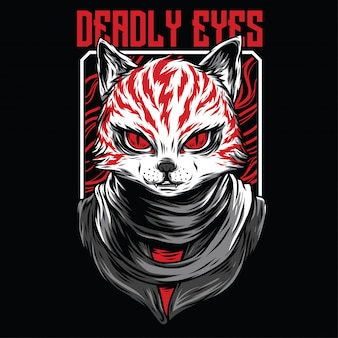 Deadly eyes illustration