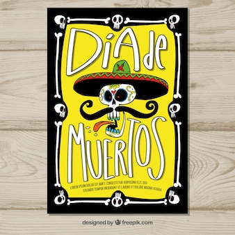 Deads' day poster with mariachi