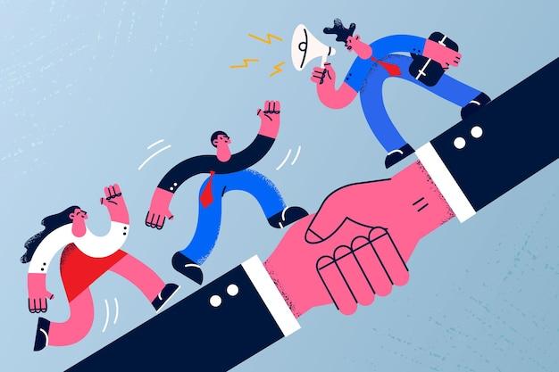 거래 계약 및 비즈니스 협력 개념