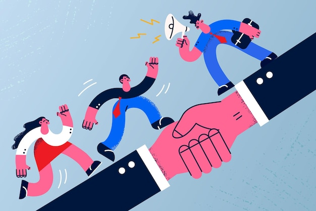 Deal agreement and business cooperation concept