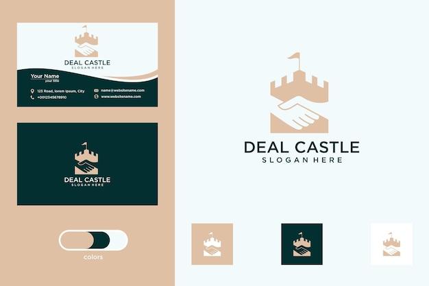 Deal castle logo design and business card