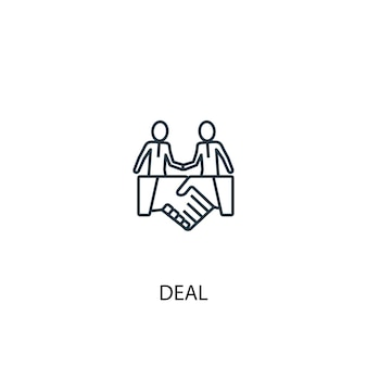 取引コンセプトラインアイコン。シンプルな要素のイラスト。取引コンセプト概要シンボルデザイン。 webおよびモバイルui / uxに使用できます