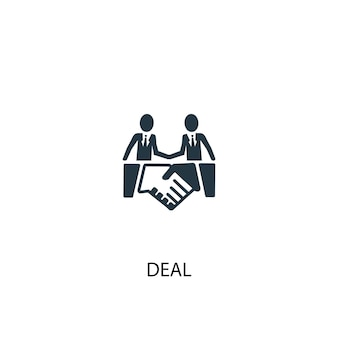 Deal icon. simple element illustration. deal concept symbol design. can be used for web and mobile.