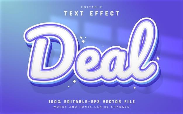 Deal text, editable 3d text effect