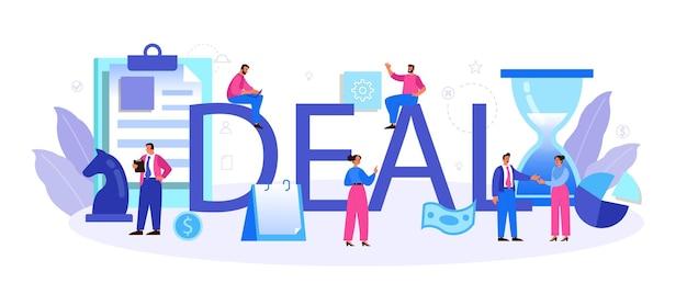 Deal typographic header