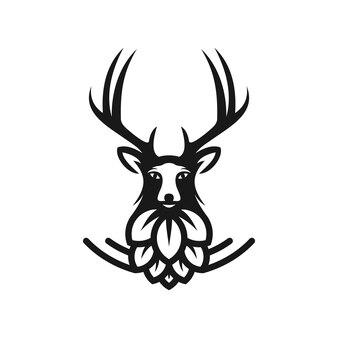 Иллюстрация шаблона логотипа любимого пивоварения