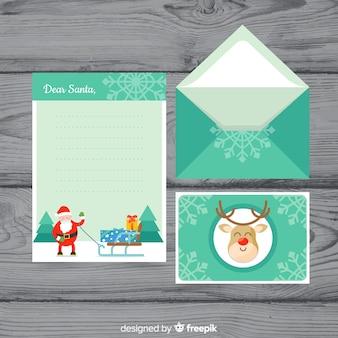 Дорогие рождественские письма и конверты санта-клауса