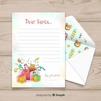 Dear santa christmas letter and envelope set
