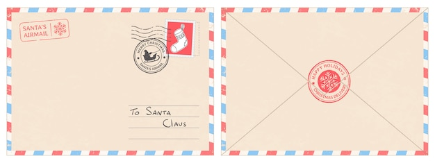 Dear santa claus mail envelope