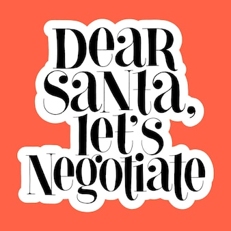친애하는 산타는 손으로 그린 글자를 협상 할 수 있습니다
