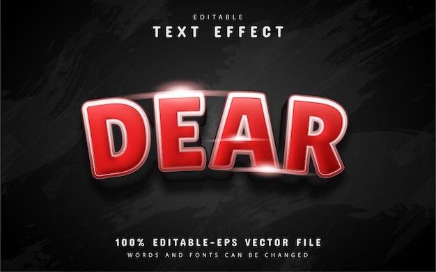 Дорогой текстовый эффект