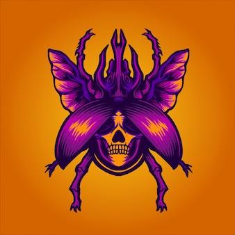 Death beetle illustration