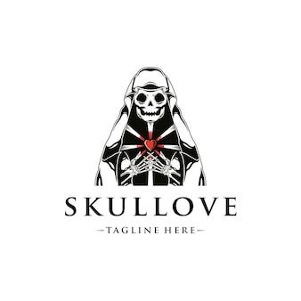 Шаблон логотипа любви торговца смертью