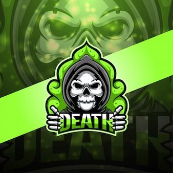 Дизайн логотипа талисмана death esport