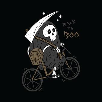 Death horror graphic illustration