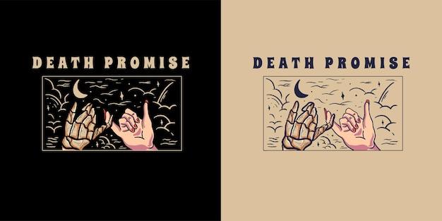 티셔츠에 대한 죽음의 약속 그림